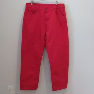Levi's 501 button fly red denim jeans 38x32